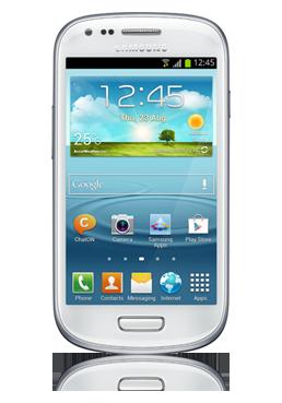 Samsung I8190 Galaxy S3 Mini ceramic white, 8GB, Netzbetreiber-Ware